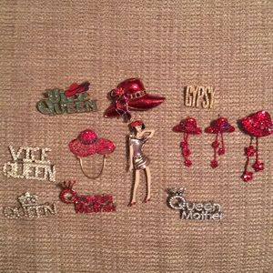 Bundle of Red Hat/Queen fashion jewelry